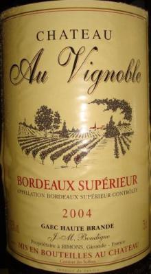Ch Au Vignoble 2004