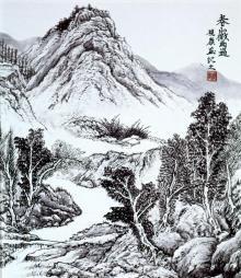 林田画廊のブログ-春山微雨過