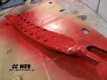 CCのRX-7(FD3S)制作、走行日記-パワープラントフレーム塗装