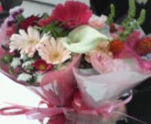 コバちゃんからのお花。
