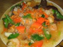 蟹黄海鮮炒め