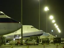 夜の駐機場