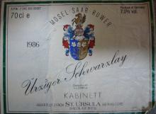 Urziger Tchwarxlay Kabinett 1986