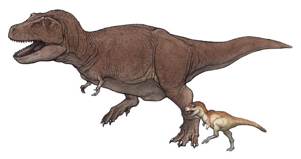 ティラノサウルス親子