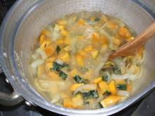 かぼちゃスープ水たし