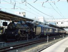 中央線の電車と釜-春さきどり試運転
