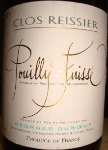 Pouilly Fuisse Clos Reissier Geor Dubo 1996_002