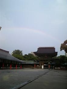 筥崎宮の虹