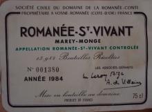 Romanee St Vivant 1984