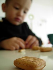 乾パンで・・・