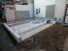 石井邸基礎工事完了