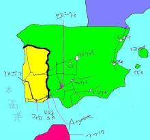 イベリア半島路線図