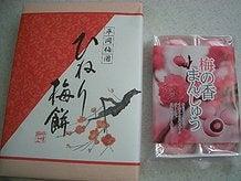 ひねり梅餅と梅の香まんじゅう