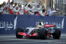 Hamilton,Bahrain GP finish