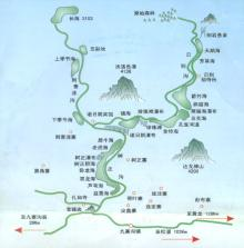 九塞溝地図