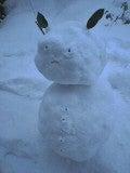 ウサ雪だるま♪