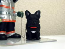 上賀茂からこんにちは。-そっくり人形 犬 フレンチブルドック