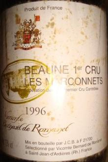 Beaune 1er Cru Les Marconnets 1996