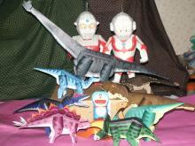 ウルトラマンと恐竜達