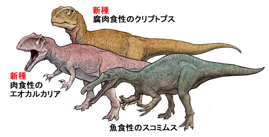 川崎悟司 オフィシャルブログ 古世界の住人 Powered by Ameba-北アフリカの肉食恐竜3タイプ