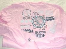 長袖Tシャツ ピンク