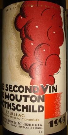 LE SECOND VIN DE MOUTON ROTHSCHIlD 1993