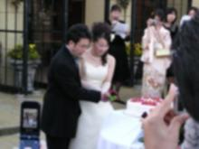 ケーキ入刃