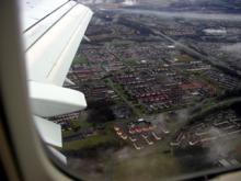 ロンドン上空