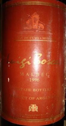 MALBEC Luigi Bosca 1996