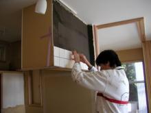 キッチンフードの下がり壁