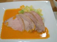 豚ロース肉の蒸し煮