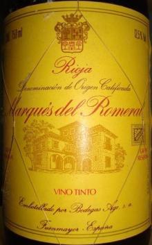 Marques del Romeral Rioja 1987_001