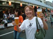 祭りと言えばビール