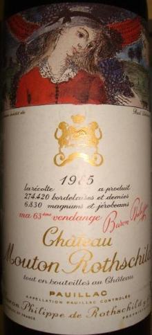 Ch Mouton Rothschild 1985