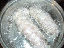 0621鶏ハム鍋投入