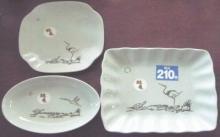ダイソー 和風陶磁器 鶴亀シリーズ 中皿3種