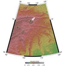 火星の氷の位置