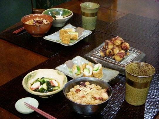 長澤家のレシピブログ-たこ尽くしの食卓