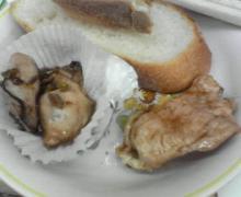 牡蠣とチキン