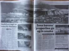 ニュースレター from オーストラリアのアデレード-bush fire 1