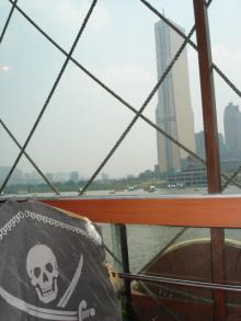 海賊船から見た63ビルディング