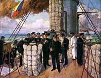 三笠艦橋の図