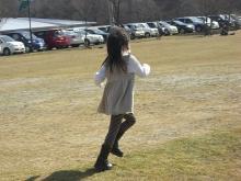 ★ ENA&YAYORI ★-芝生で走る