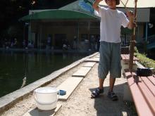 ニジマス釣り