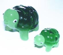 ガラス置物 ミドリガメ 大小
