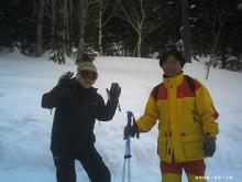 阿寒湖畔スキー場にて
