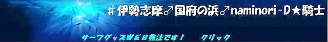 ♯伊勢志摩♂国府の浜                                   ♂naminori-D★騎士