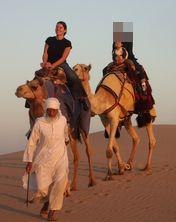 夕陽の砂漠