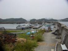 天草市有明町大浦地区の漁港
