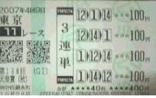 天皇賞(GⅠ)2007.10.28
